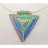Kép 3/3 - Kilim kétoldalas háromszög ezüst nyakék