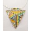 Kép 1/3 - Kilim kétoldalas háromszög ezüst nyakék