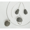 Kép 1/5 - GÖMB ezüst nyaklánc, fülbevaló és gyűrű szett
